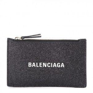 Balenciaga Everyday Glitter Leather Zip Ca…
